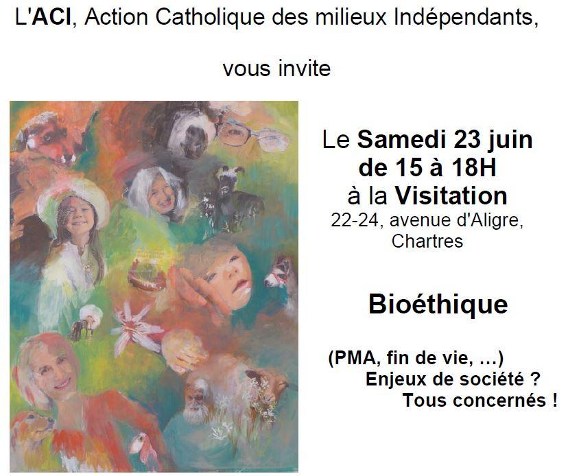 bioethique - Conférence Bioéthique  (PMA, fin de vie) </br> Samedi 23 juin 2018 à la Visitation
