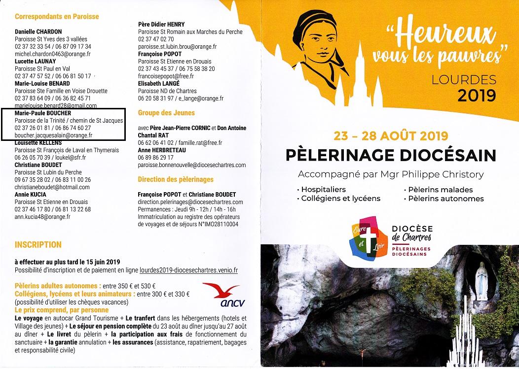 programme lourdes 0002 - Pèlerinage diocésain accompagné par Mgr Philippe Christory (Renseignements)