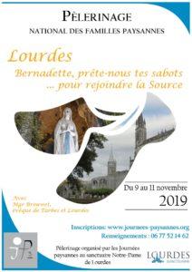 affiche pele loudres2019 web 212x300 - Pèlerinage national des familles paysannes, 9-11 nov à Lourdes
