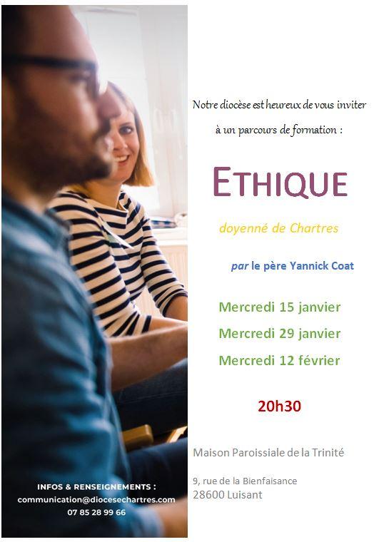 ethique doyenne - Formation en doyenné - Ethique par M.l'abbé Y.Coat (15/01-29/01-12/02)