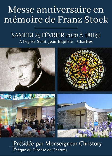 messe en memoire de franz stock - Messe en mémoire de Franz Stock le 29 février à 18h30