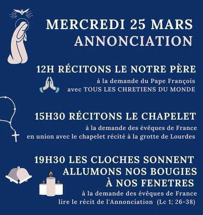 annonciation activites - Annonciation / Jubilée du père Wilner