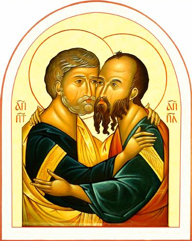 Icone saint Pierre et saint Paul - Message de Monseigneur Christory - Vendredi 3 Juillet
