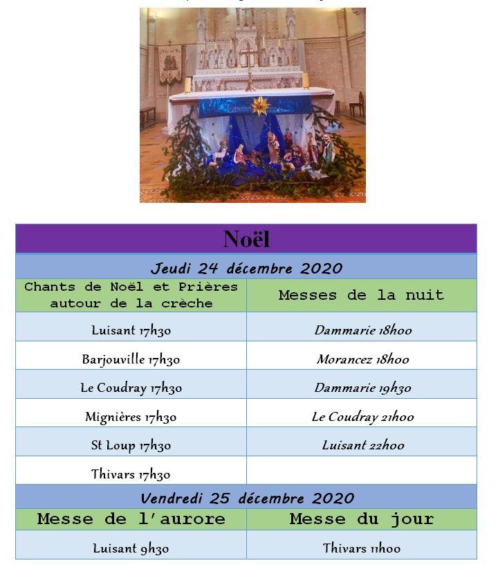 horaires 2020 noel - Horaires des célébrations et messes de Noël