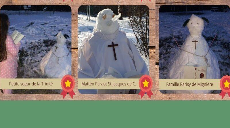 Gagnants du jeu défi neige – 3 photos gagnantes de notre paroisse