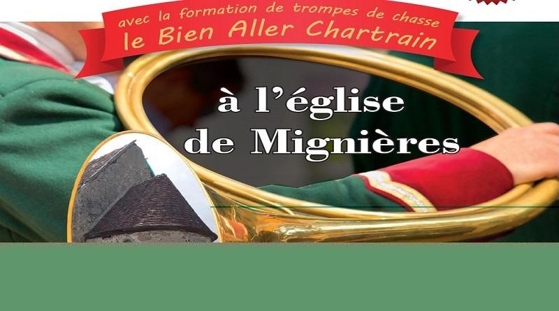"""concert trompes - Concert de sonneurs, samedi 25/09 à 20h à l'église de Mignières - lancement de l'association """"Renaissance de la Chapelle des Trois Marie"""""""